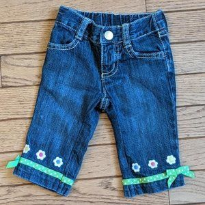 Gymboree Jeans Flowers Ribbons